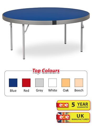 Spaceright Fast Fold Round Dining Table