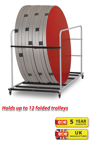 Spaceright Fast Fold Round Table Trolley