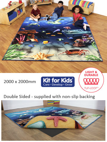 Under the Sea Double Sided Carpet