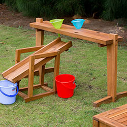 Outdoor Rack for Funnels and Slide - Includes 3 Buckets and Funnels