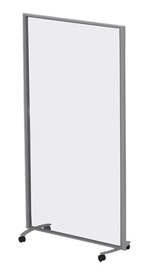 Protek Screen Six - Free Standing - Mobile With Curved Feet