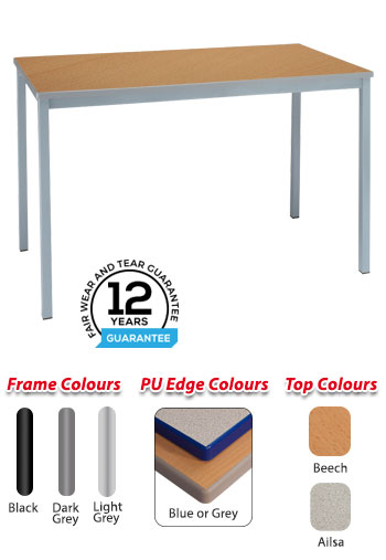 RX Fully Welded Rectangular Cast PU Edge Table
