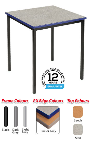 RX Fully Welded Square Cast PU Edge Table