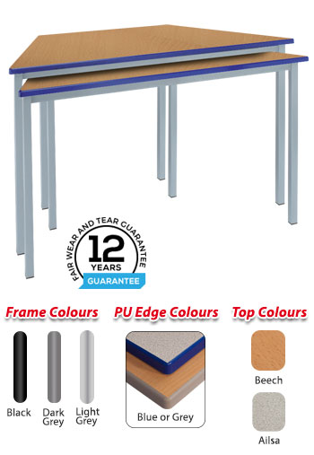 RX Fully Welded Trapezoidal Cast PU Edge Table