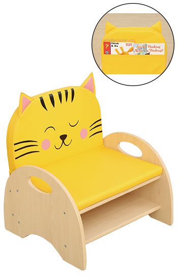 Seat And Storage Chair - Cat Cushion