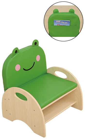 Seat And Storage Chair - Frog Cushion