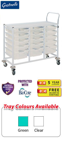 Gratnells Compact Medical Treble Column Trolley Complete Set A With Handle