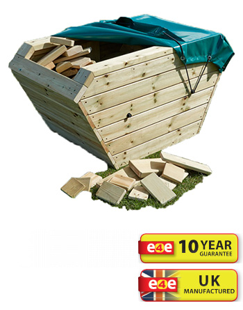 Wooden Skip And Blocks